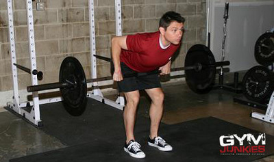 Demonstration of the Bent-Over Row exercise