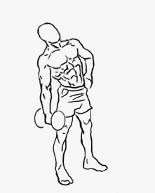 Illustration of the Side Bend exercise.