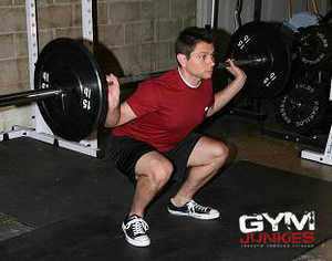 Demonstration of the Barbell Squat exercise.
