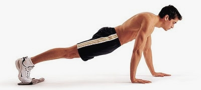 Demonstration of the Walking Push-up exercise