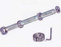 Illustration of dumbbell with shaft collars