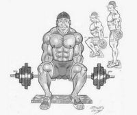 Illustration of the Hack squat exercise